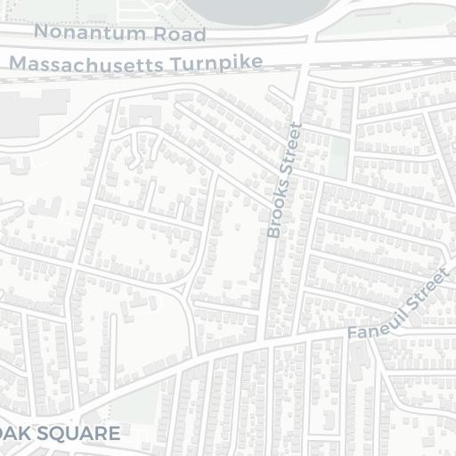 on map of brighton machusetts