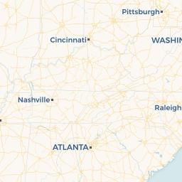 Mapa de Tennessee con ciudades, pueblos y municipios ...